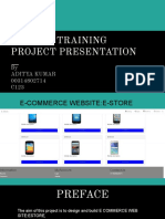 Summer Report on WEB Development