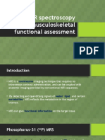 Role of MR spectroscopy in musculoskeletal functional assessment.pptx