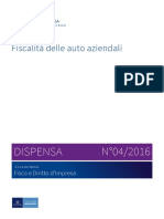 Fiscalita Delle Auto Aziendali - Dispensa n. 04 2016