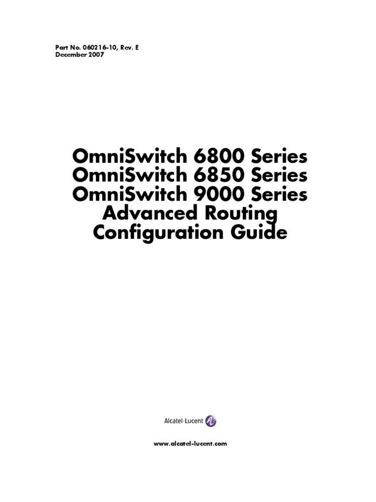 Alcatel lucent configuration guide