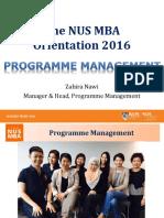 Orientation 2016 - Programme Mgt Matters (Zahira)