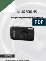 Canon IXUS 300 HS Brugervejledning (Dansk)