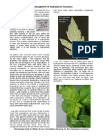 PH Management of Hydroponic Solutions