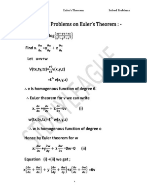 2 Solved Problems on Euler | Differential Equations