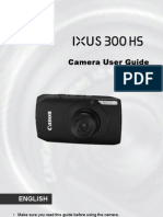 Canon IXUS 300 HS User Guide (English)