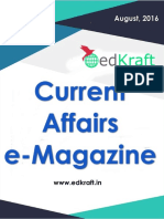 Current Affairs e Magazine EdKraft in August 2016 Www.edkraft.in Locked