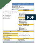 Estructura de Claustro de Profesores curso 16/17