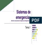 Tema 1 - Sistemas de emergencias