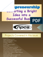 Entrepreneurship - Converting a Bright Idea into a Successful Business