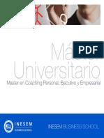 Master en Coaching Personal, Ejecutivo y Empresarial (Titulación Universitaria + 60 Créditos ECTS)