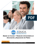 Master en Cocina + Titulación Universitaria en Decoración y Exposición de Platos
