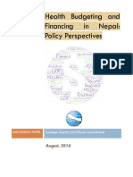 Health Budgeting and Financing in Nepal - Policy Perspectives