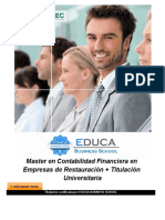 Master en Contabilidad Financiera en Empresas de Restauración + Titulación Universitaria