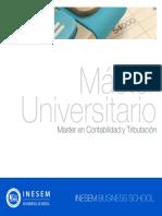 Master en Contabilidad y Tributación (Titulación Universitaria + 60 Créditos ECTS)