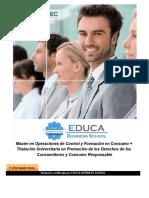 Master en Operaciones de Control y Formación en Consumo + Titulación Universitaria en Promoción de los Derechos de los Consumidores y Consumo Responsable