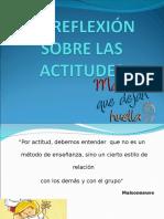 Expo La Reflexión Sobre Las Actitudes
