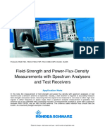 One-man RF Power Flux Basic Measurements With a Spectrum Analyzer Rohde&Schwarz