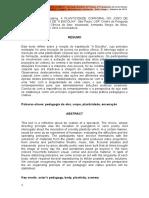ARRUDA, R. K. a Plasticidade Corporal No Jogo de Enquadramentos de a Escolha
