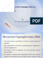 Impact of Recurrent Hypoglycemia on Cognitive And