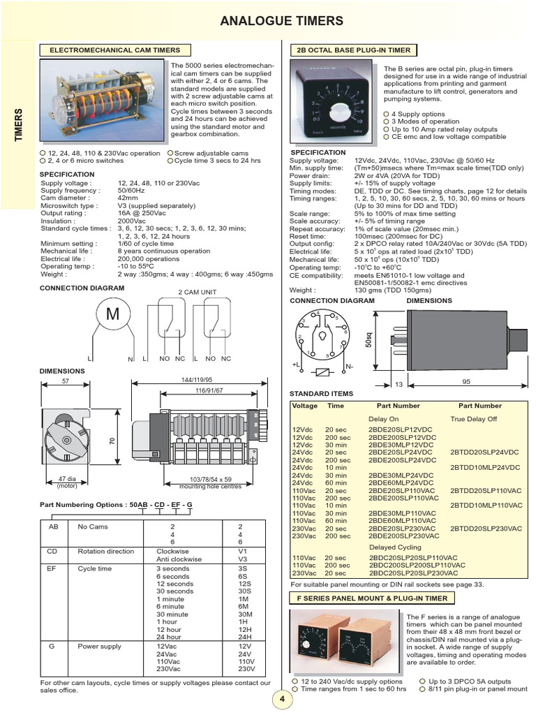 5804 Timer Relay Dpdt 110vac 10a 8 Pin Octal Power Circuit Diagram