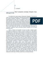 Resenha BERGER, Peter. A perspectiva sociológica. Petrópolis