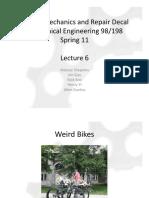Bicycle Mechanics and Repair - Lecture6