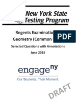 Geometry Common Core Regents Exam Annotated Items June 2015