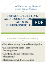 Unfair, Deceptive, And Unconscionable Acts in Foreclosure Cases
