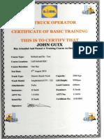 LIDL UK Fork Lift Truck Refresher Certificate