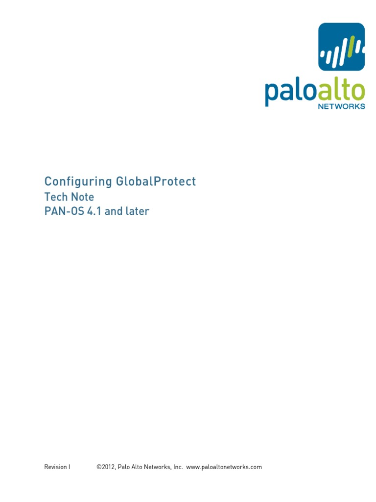 GlobalProtect Configuration Rev I | Virtual Private Network