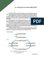 ASGA - Modem Optico Com CONFIGURAÇÃO COMPLETA - Muito Bom - Procedimento MMO16E1Ng