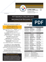 Pittsburgh Steelers At Washington Redskins (Sept. 12)