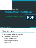 Lecture 5-Dictionaries and Tolerant Retrieval