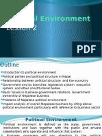 Lesson 2 Political Environment