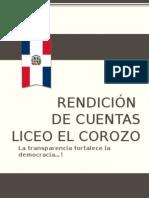 Rendicion de Cuentas Liceo el Corozo.pptx