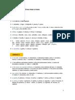 Paso a Paso, Gramatica de Español en griego, CLAVE A1yA2