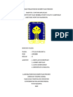Laporan Praktikum Komputasi Proses BAB VIII CONTOH APLIKASI MENENTUKAN DEW POINT DAN BUBBLE POINT SUATU CAMPURAN (METODE NEWTON RAPHSON)
