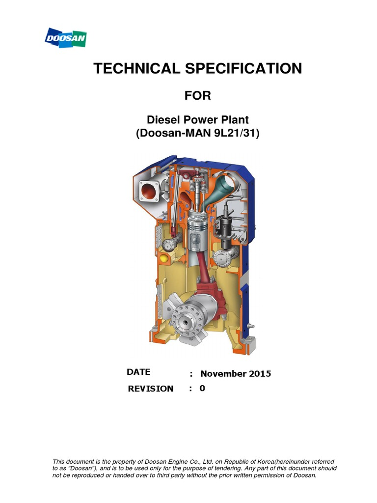 Man Doosan Engine Brochure Internal Combustion Diesel Power Plant Diagram