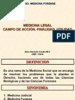 definicion de la Medicina Forense.