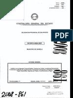 Auditoria de Cge a Gad Municipal (Informe)