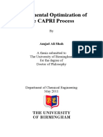 Experimental Optimization of the Capri Procces, Upgrading Heavy Oil