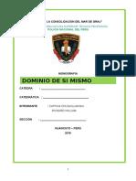 Monografia Dominio de Si Mismo