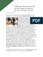 Enfermedades Que Afectan Más a La Juventud Del Estado de México