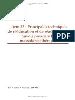 Principales techniques de rééducation et de réadaptation. Savoir prescrire la massokinésithérapie.pdf