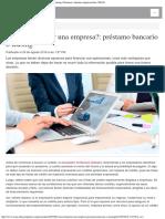 ¿Cómo financiar una empresa préstamo bancario o leasing  Finanzas  Apuntes empr.pdf