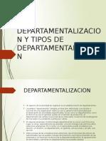departamentalizacion y tipos