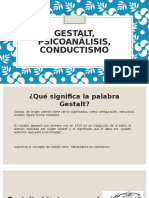 Gestalt, Psicoanálisis, Conductismo
