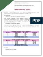 Valoración bicarbonato de sodio con HCl