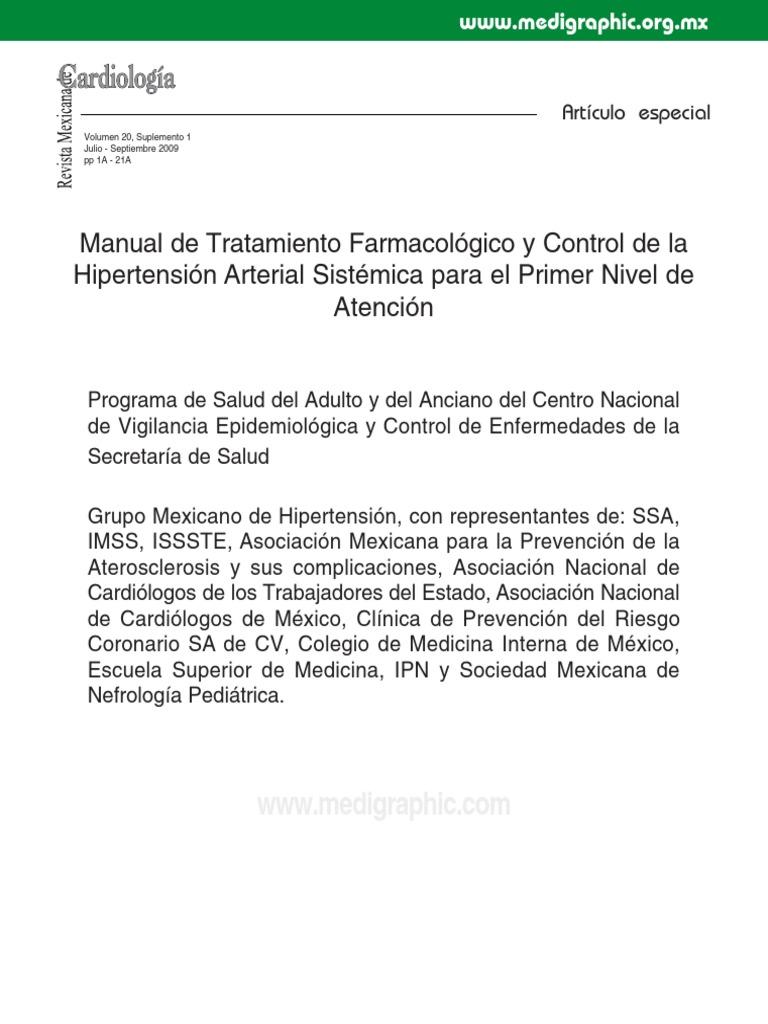 Terapia farmacológica para causas aisladas de hipertensión sistólica
