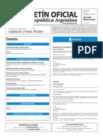 Boletín Oficial de la República Argentina, Número 33.459. 12 de septiembre de 2016
